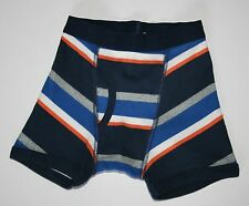 New Gymboree Outlet Boxer Briefs Underwear XS 4 NWT Blue Gray Orange Stripes