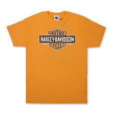 cfdc15de Harley-Davidson T-Shirt Biker Short Sleeve Men Woman Tel Aviv Israel Orange