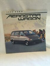 "1986 Ford Aerostar Wagon Xl Xlt Showroom Brochure ""Nos"""