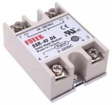 Relé de estado sólido foteh SSR-40DA 3-32VDC módulo de salida 40 A 24-380VAC Contactor