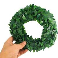 Silk Wreath Green Leaf Artificial Flower Vine DIY Home Decoration Car L7X0
