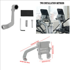 360° CNC Motorcycle Mirror Screw Phone Mounting Bracket Holder + USB Charger 1x