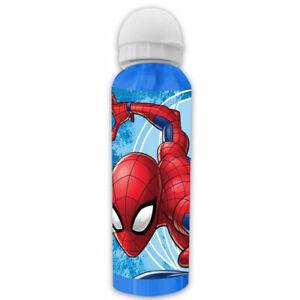 Kids Sports Character Water Bottle School Lunch Disney Spiderman 500ml Aluminium