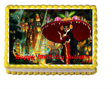 Book of Life Edible Birthday Party Cake Topper Icing 1/4 frosting sheet