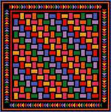 """QUAINTLY AMISH - 91"""" - Pre-cut Quilt Kit by Quilt-Addicts Queen size"""