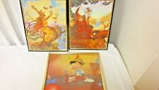 Lot 3 Older Child's Room Picture Wall Hangings-Pinocchio & Magical Themes