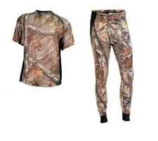 Scent Blocker- 8TH layer- Short Sleeve shirt and pants combo- Real tree-size 2XL