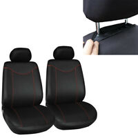 Car SUV Truck 2 Front Seats Cover Set Durable Protector Black+Red Four Season