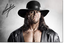 THE UNDERTAKER PHOTO PRINT POSTER PRE SIGNED - 12 X 8 INCH (A4) PREMIUM QUALITY