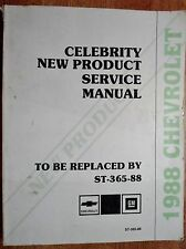 GM Chevrolet Dealership 1988 Celebrity New Product Information  Service Manual