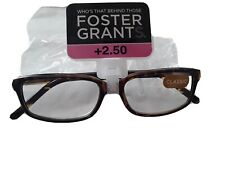 FOSTER GRANT READING GLASSES +2.50 NEW IN PACK