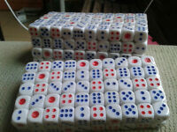 100Pcs Top  Standard Plastic 10Mm Game White Dice Die Toy Vest SG~RK