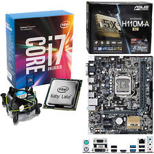 INTEL Core i7 7700K 4.2Ghz (4.5Ghz), ASUS H110M-A/M.2 NO RAM