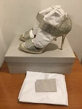 Jimmy Choo Alana Metallic Wide Strap Sandals  Heels UK 6.5/EU 39.5 RRP £555