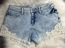 American Rag Cie Jean Shorts Size 9 Lace Pearls