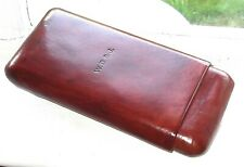 VINTAGE DUNHILL LEATHER CIGAR CASE EXTRA LARGE SIZE