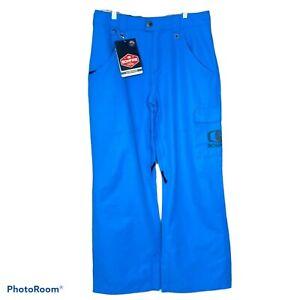 Bonfire Men's Ski Snowboard Pants Blue Wallace Classic Fit Silver Series M NWT