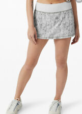 Lululemon Pace Rival Skirt Size 6 CBAW/ALPW WHITE GRAY NEW Tennis