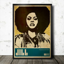 Jill Scott Soul Funk pop art poster music Erykah Badu