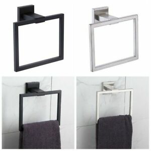 Square Hand Towel Ring Holder Wall Mounted Modern Bathroom Accessories