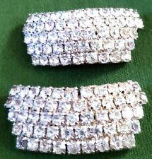 """Unique Vintage Pair of 2"""" Clip On Faux Jewels"""