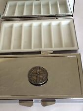 Sihtric Silver Penny WC2 Pewter On Mirrored 7 Day Pill box Compact
