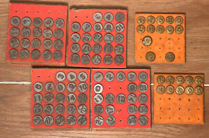Lot Of 1948 Acro Industries Hold-tite  Numbering Tacks and Remco Solid Brass Lot