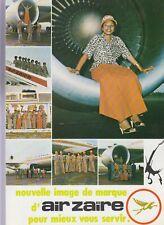 AIR ZAIRE MCDONNELL DOUGLAS - DC-10 - PUBLICITY BROUCHURE & TIMETABLE