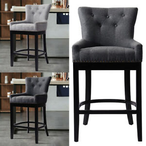 Retro High Legs Bar Stools Breakfast Dining Chairs Stool Living Room Kitchen NEW