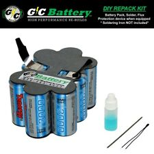 Porter Cable 12 Volt 8623 Battery UPGRADED DIY REPACK KIT | Tenergy 3.0Ah NiMH
