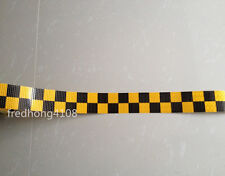 """Square Safety Reflective Self adhesive Warning Tape Sticker 2"""" 50mm Width"""