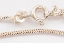 Solid 925 Sterling Silver Ball Bar Rope Snake Skin Chain Bracelet Link Vintage