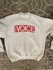 vintage sweatshirt, Xl, The Long Island Voice Newapaper, Hipster.  Village Voice
