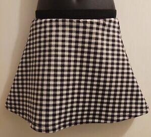 SALE $2.99 Gymboree Black & White Checkered Flare Hem Skirt - Girls 4T