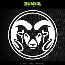 "Colorado State Rams - NCAA - White Vinyl Sticker Decal 5"""