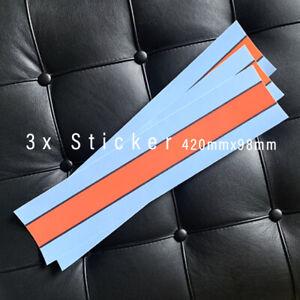 3x Racing Streifen 42x10 cm Aufkleber Sticker Vespa Dekor Martini ähnlich GULF c