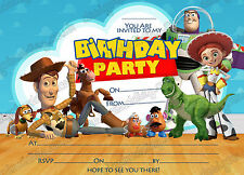 Toy story Birthday Party Invitations,Toy story Rex party invites X 8 +envelopes