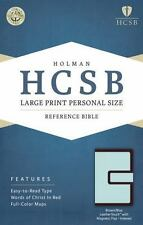 HCSB Large Print Personal Size Bible 2014; Brown/Blue LeatherTouch Magnetic Flap
