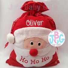 Large EMBROIDERED Personalised Christmas Santa Sack Bag, Gift, xmas stocking