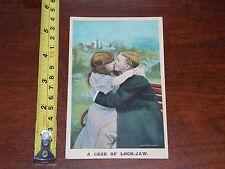 POSTCARD RARE VINTAGE COMIC BAMFORTH A CASE OF LOCK-JAW 1908 UNDIVIDED