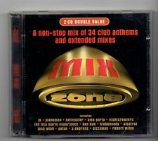 (JE583) Mix Zone, 34 Club Anthems & Extended Mixes - 1996 double CD