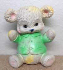 """1962 Buster Bear Sleepy Eyes Squeak 10"""" Arrow Rubber Toy Edward Mobley"""