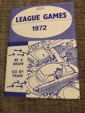 RARE 1972 VFL AFL FIXTURE TRAIN ADVERTISING - GREAT CONDITION