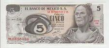 Mexico 5 Pesos 1969 Pick 62a UNC
