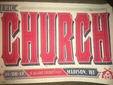 Eric Church Blood Sweat & Beers Early Poster #206/235 Madison, Wisc 1-26-12! ⚡�