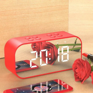Wireless bluetooth speakers with LED display Clock