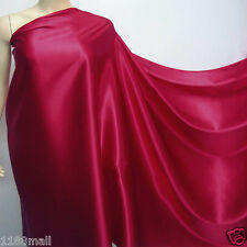 "by the metre""azalea""100% pure silk fabric satin silky charmeuse plain crepe back"