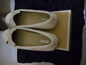 MICHAEL KORS DAISY MOC OPTIC WHITE PATENT SHOES NEW IN BOX US 9.5M sale