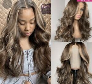 Beautiful Human Hair Ash Brown Custom Color Lace wig 24 Inch