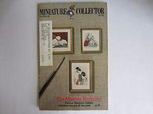 Vintage Septembre Oct.1984 Miniature Collector Revue Brochure Livre Numéro 45
